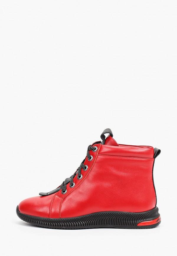 женские высокие ботинки ascalini, красные