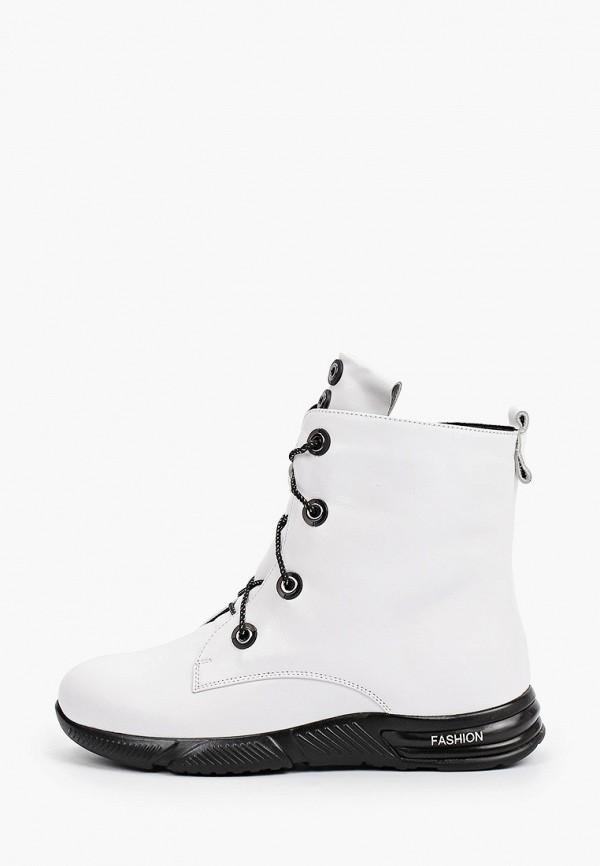 женские высокие ботинки ascalini, белые