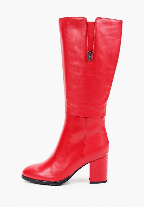 женские сапоги ascalini, красные