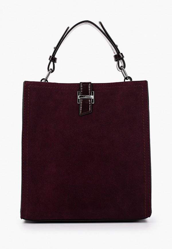 женская сумка с ручками francesco donni, бордовая
