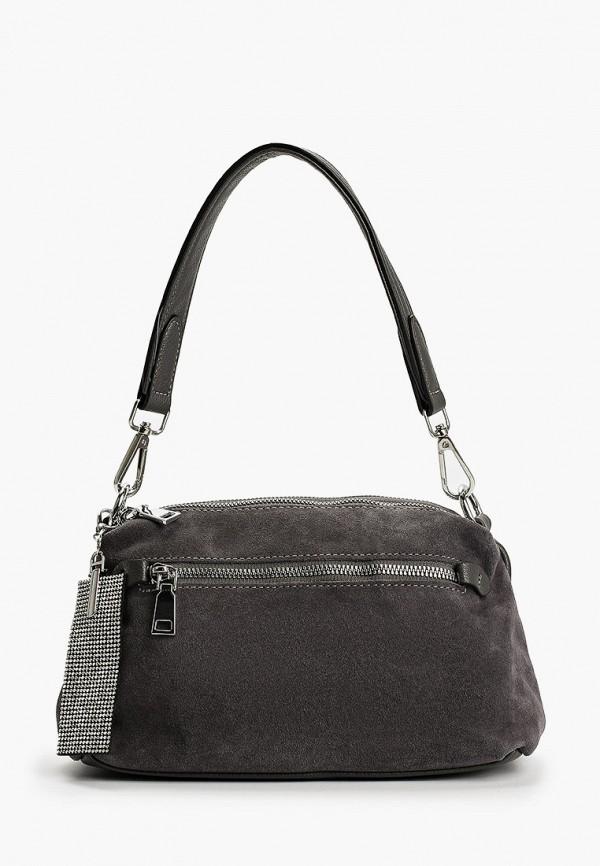 женская сумка с ручками francesco donni, серая