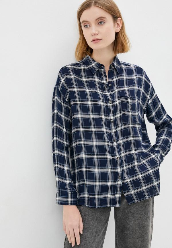 женская блузка с длинным рукавом colin's, синяя