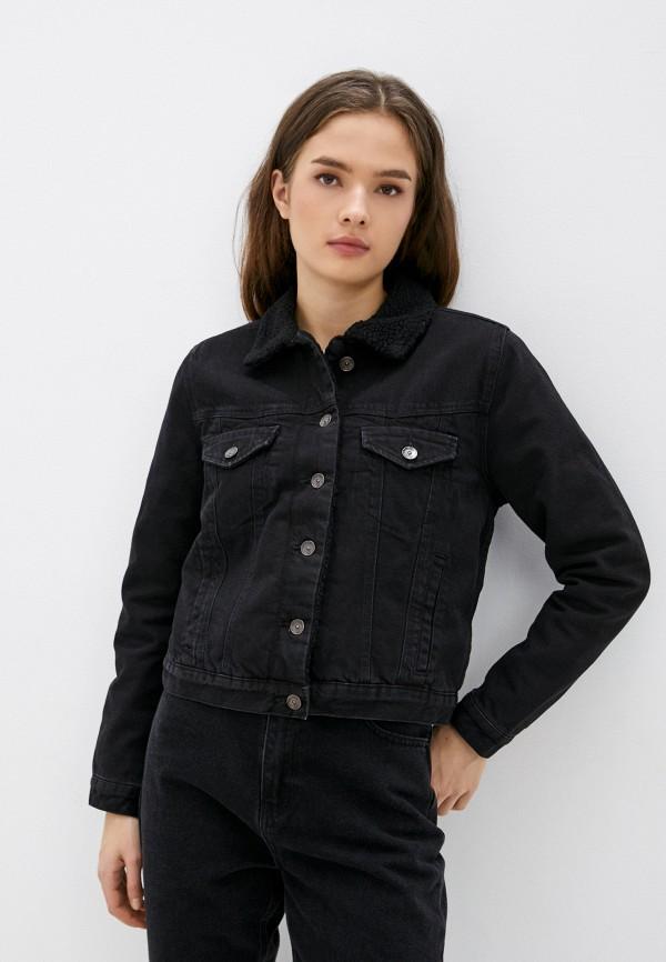 женская джинсовые куртка colin's, черная