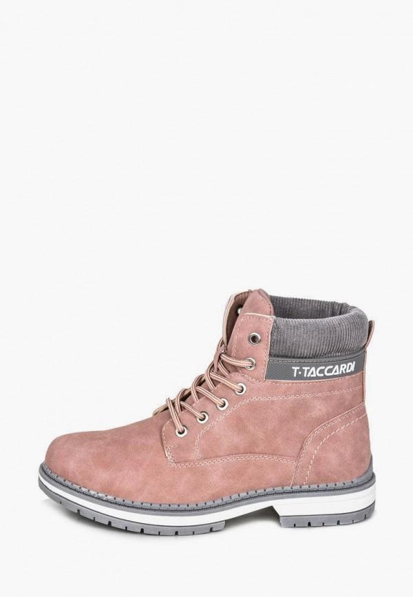 женские ботинки t.taccardi, розовые