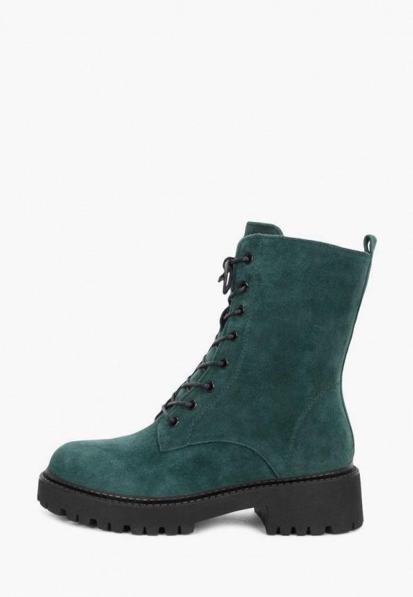 женские высокие ботинки pierre cardin, зеленые