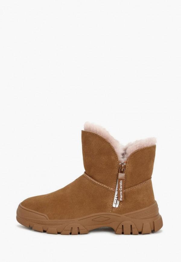 женские высокие ботинки pierre cardin, коричневые