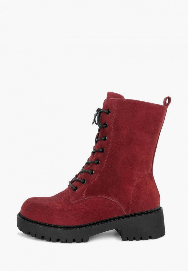 женские высокие ботинки pierre cardin, бордовые