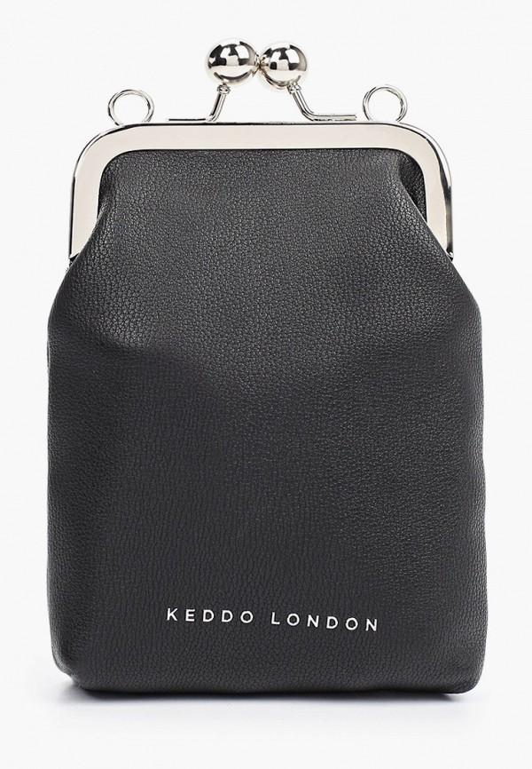 женская сумка через плечо keddo, черная