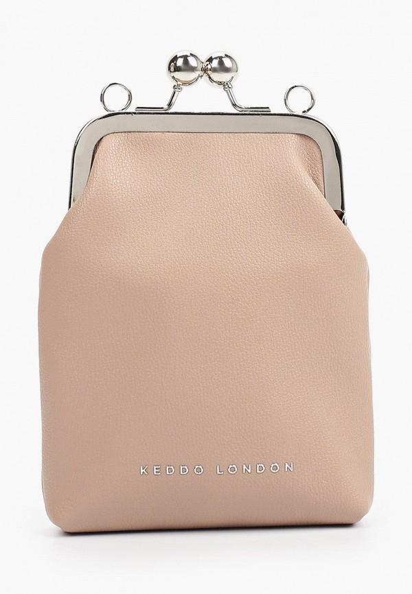 женская сумка через плечо keddo, бежевая