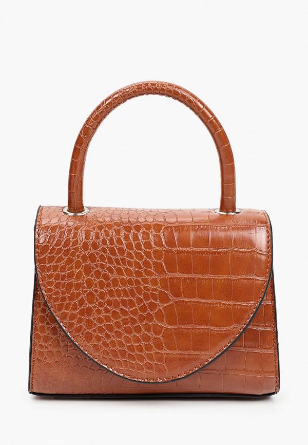 женская сумка с ручками keddo, коричневая