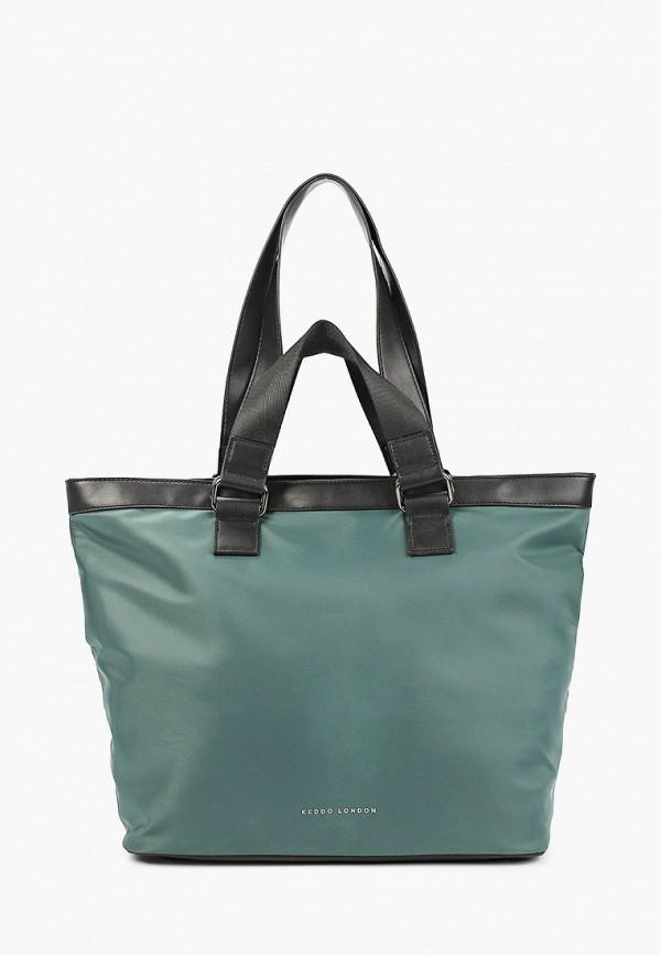 женская сумка с ручками keddo, зеленая