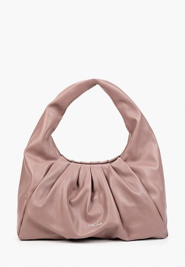 женская сумка с ручками keddo, розовая
