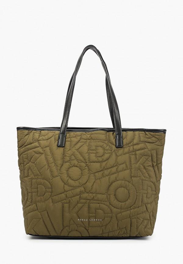 женская сумка с ручками keddo, хаки