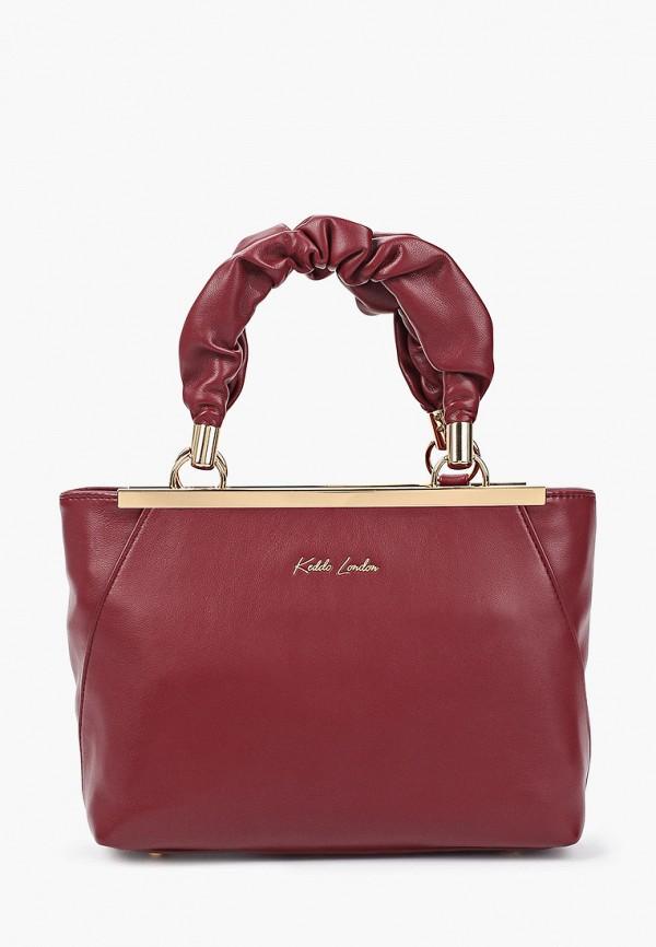 женская сумка с ручками keddo, бордовая