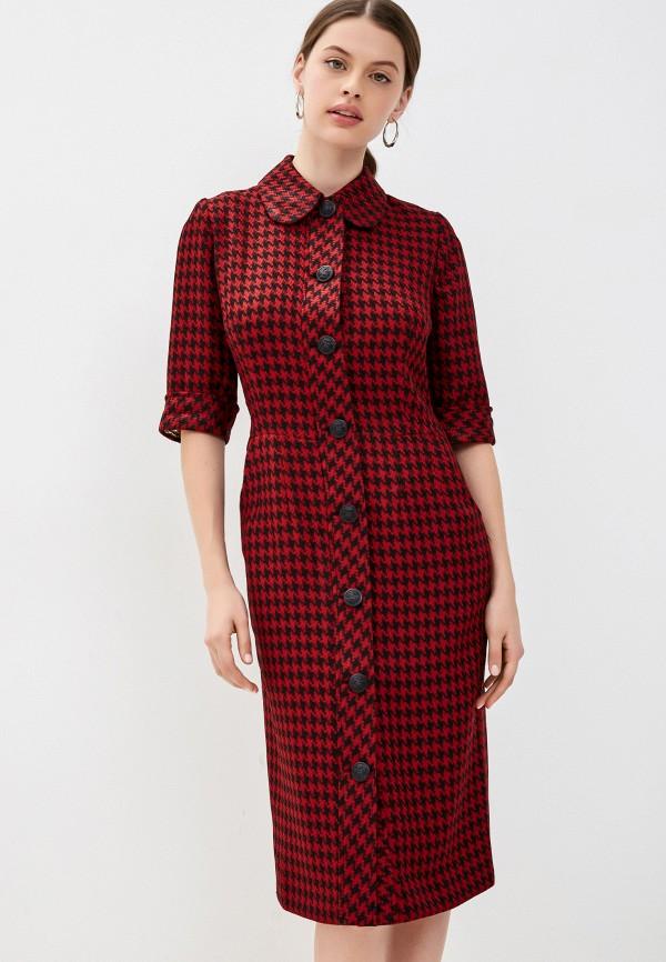 женское платье-рубашки мадам т, красное