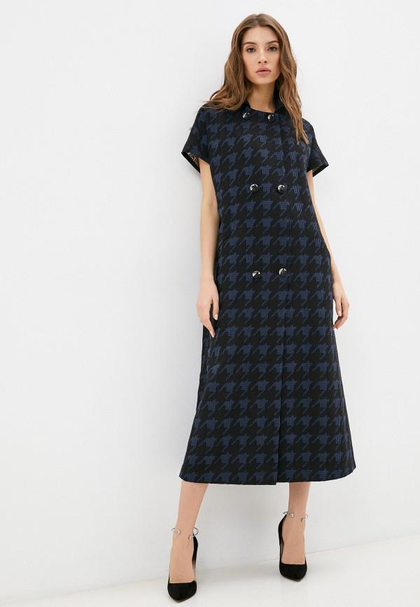 женское платье-рубашки мадам т, синее