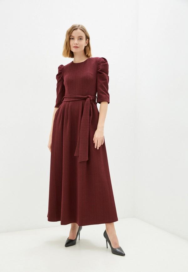 женское повседневные платье мадам т, бордовое