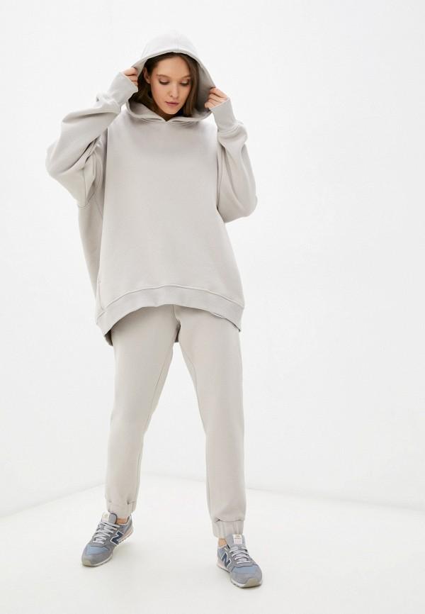 женский спортивный костюм m,a,k you are beautiful, бежевый
