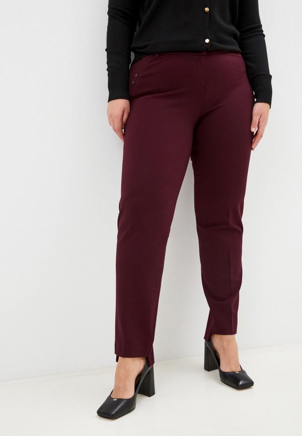 женские зауженные брюки мадам т, бордовые