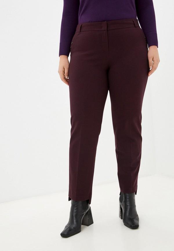 женские классические брюки мадам т, бордовые