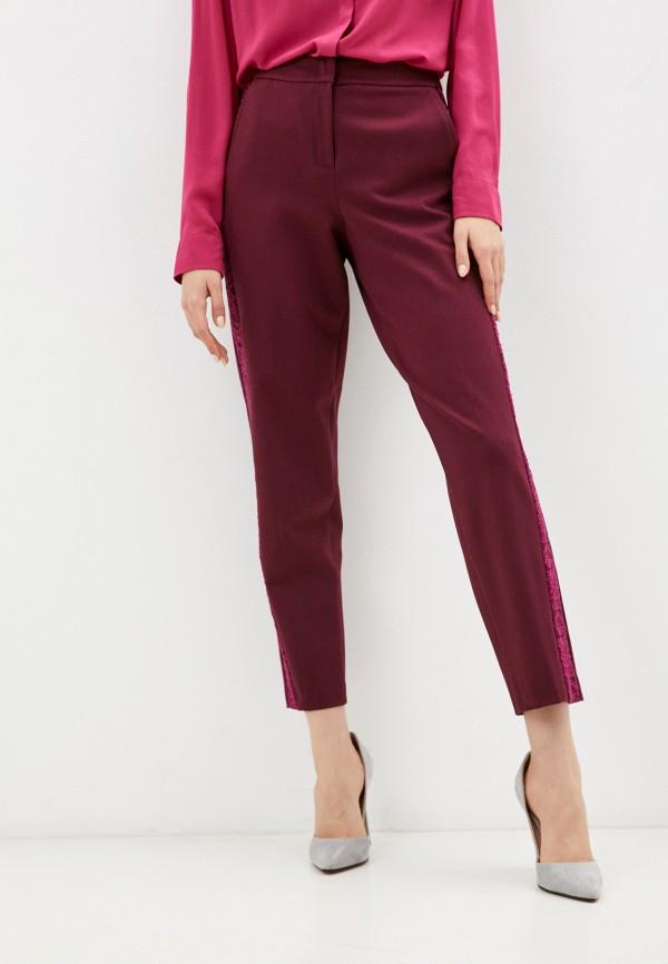 женские повседневные брюки мадам т, бордовые