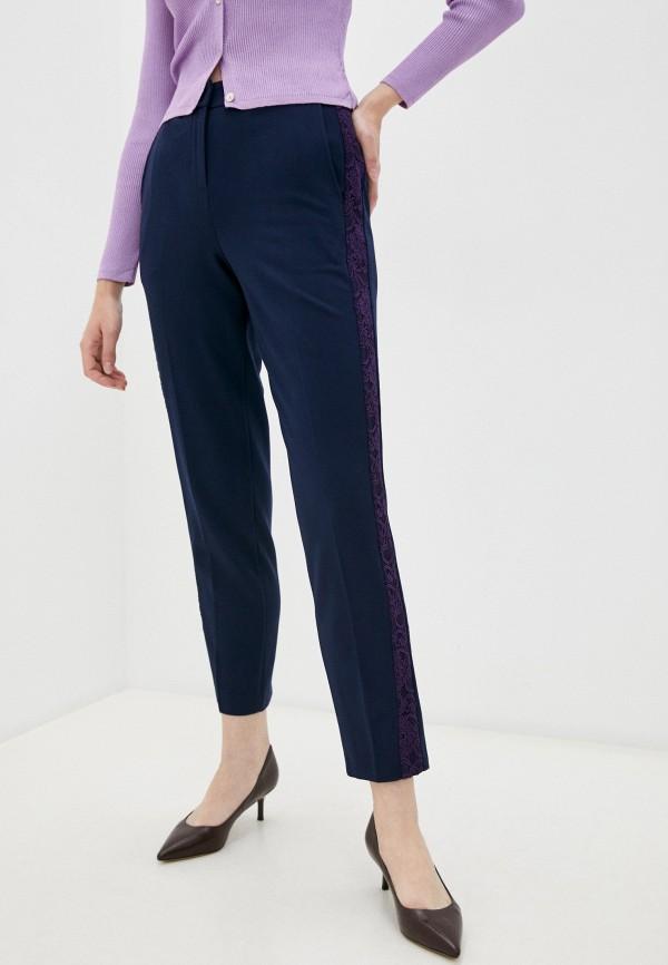 женские зауженные брюки мадам т, синие