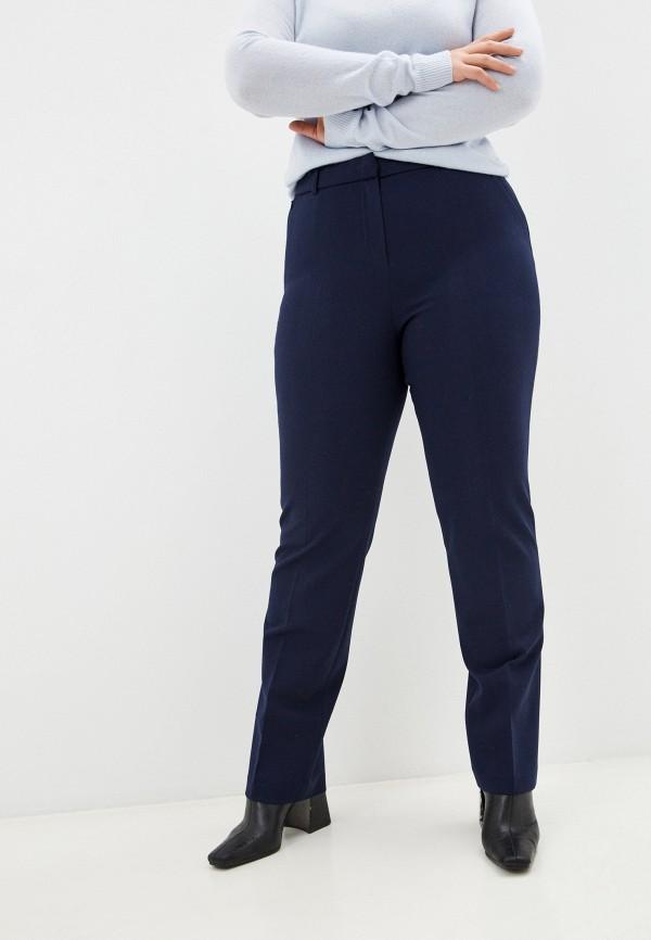 женские классические брюки мадам т, синие