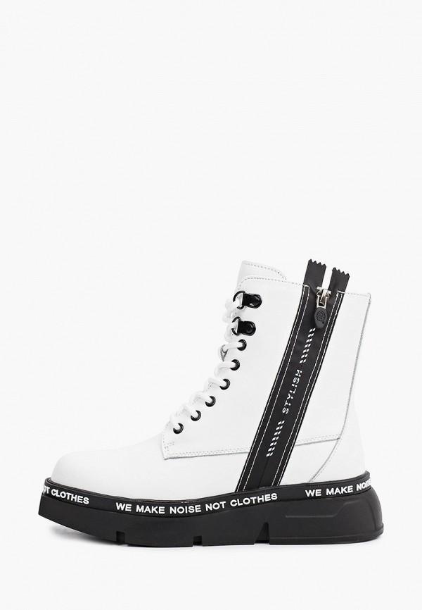 женские высокие ботинки francesco donni, белые