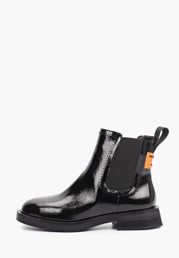 женские ботинки-челси francesco donni, черные