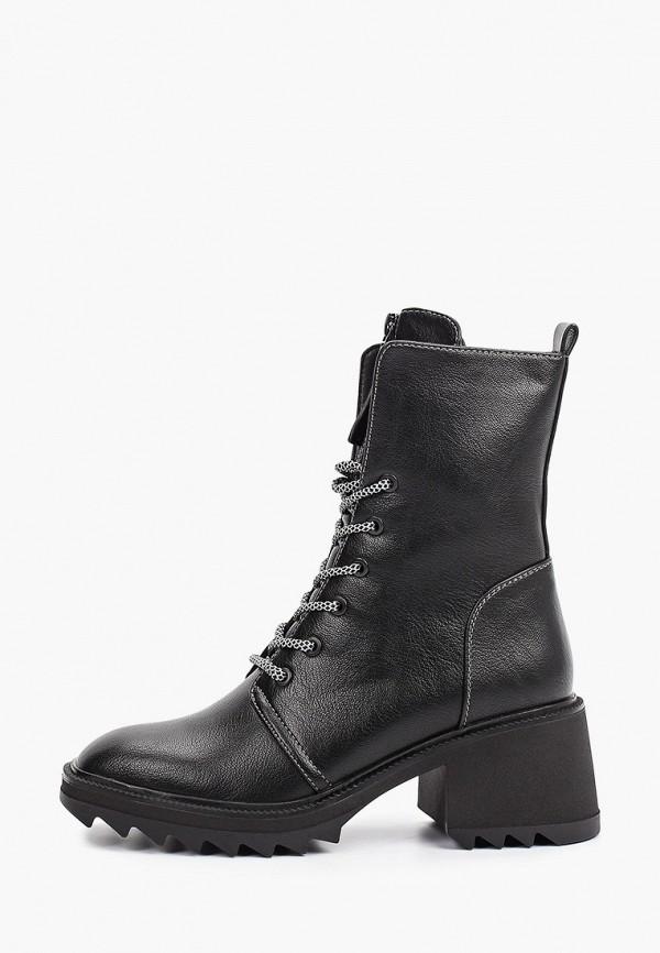 женские высокие ботильоны francesco donni, черные