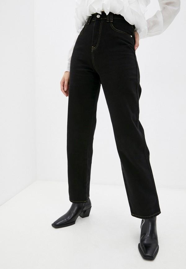 женские прямые джинсы top top, черные