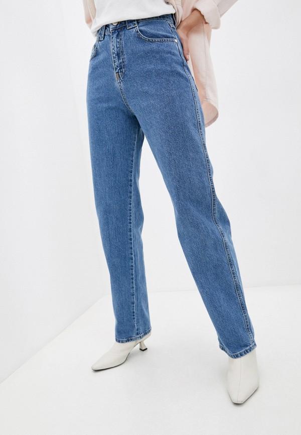 женские джинсы бойфренд top top, синие