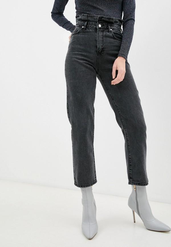 женские джинсы-мом top top, серые