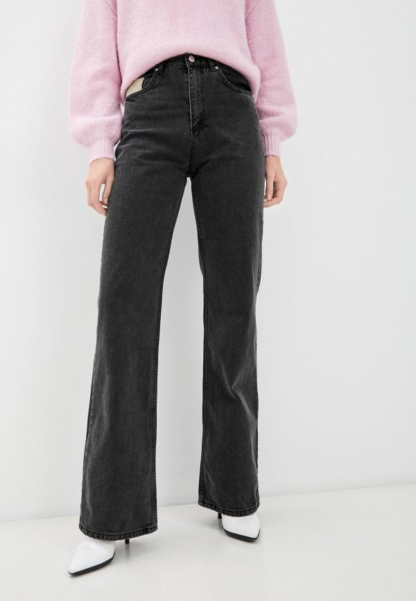 женские джинсы клеш top top, серые
