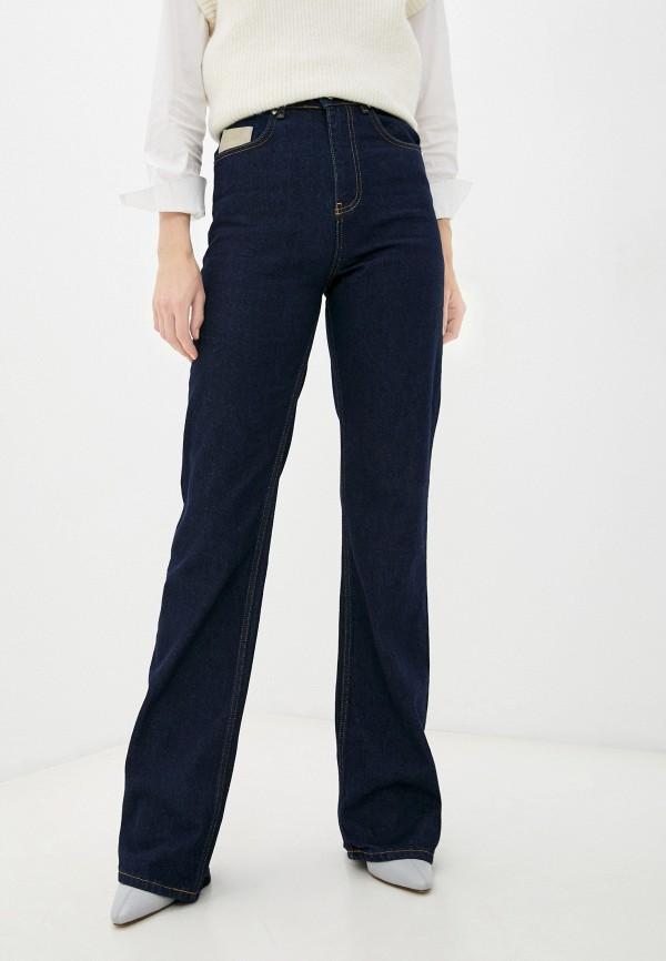 женские джинсы клеш top top, синие
