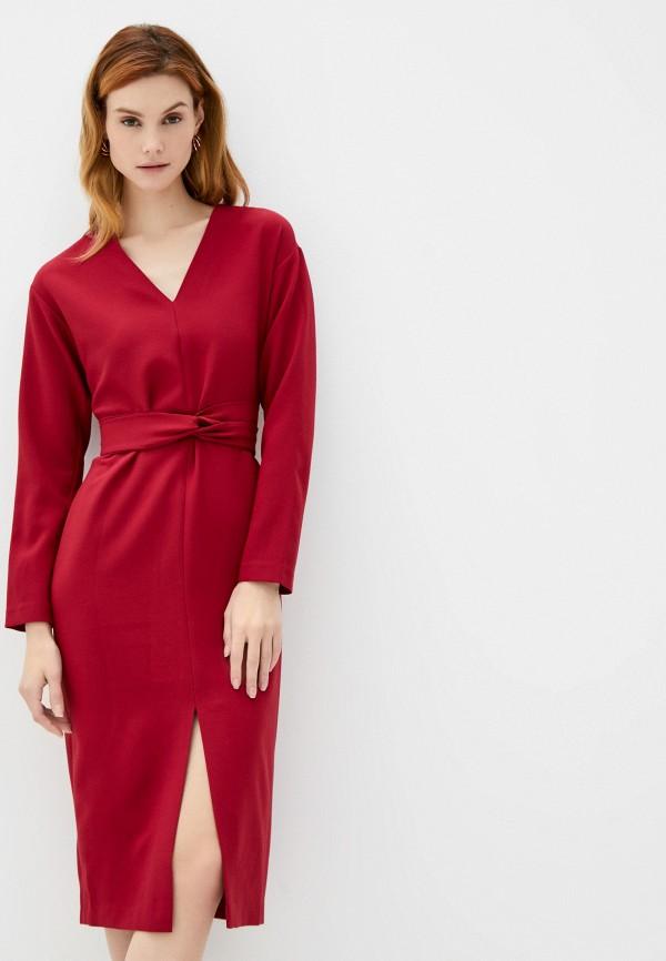 женское повседневные платье delia, красное