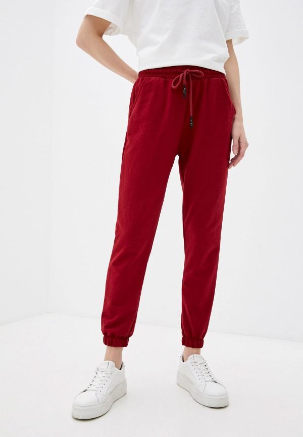 женские спортивные брюки trendyol, бордовые