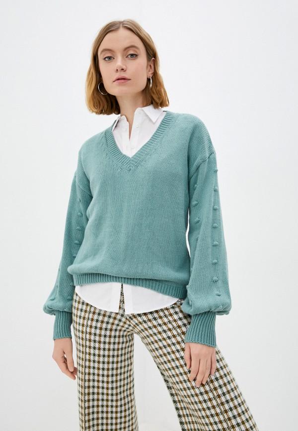 женский пуловер trendyol, бирюзовый