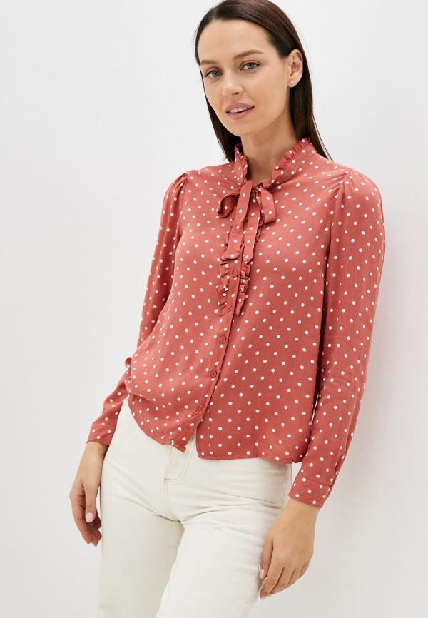 женская блузка с длинным рукавом trendyol, розовая