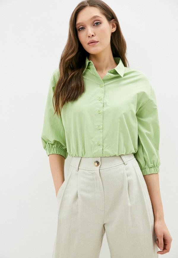 женская блузка с длинным рукавом trendyol, зеленая