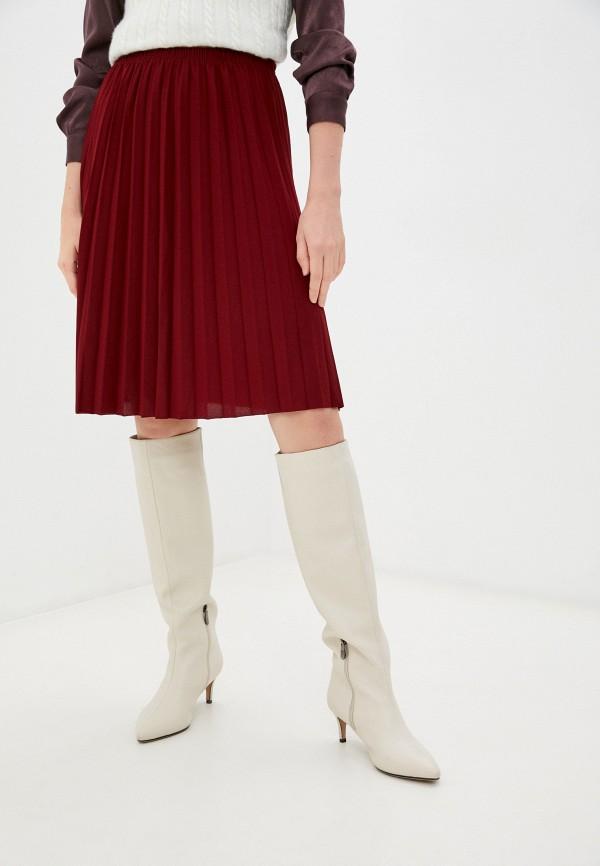 женская плиссированные юбка trendyol, бордовая