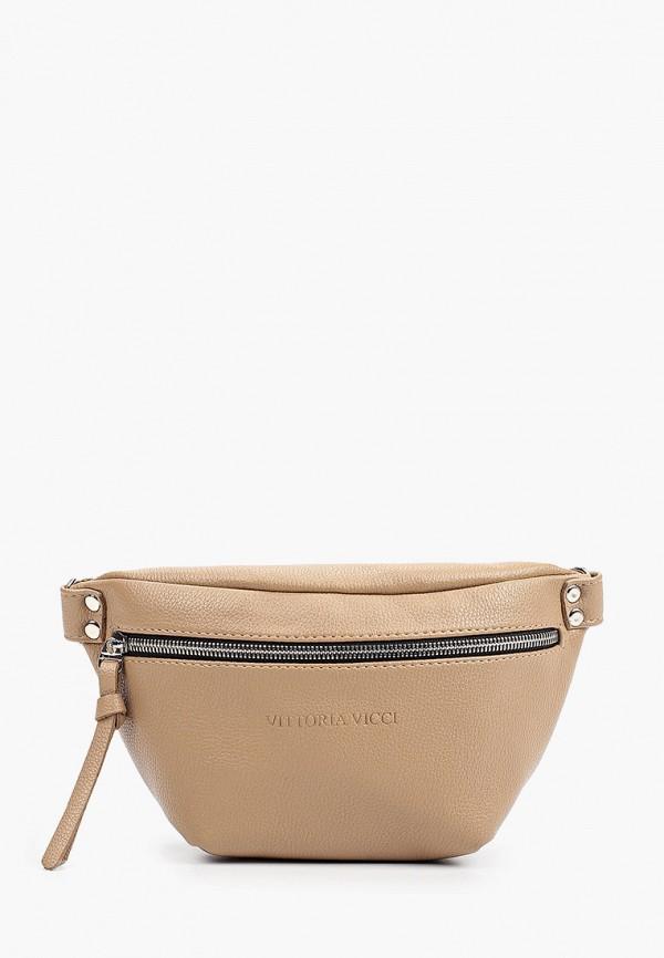 женская поясные сумка vittoria vicci, бежевая
