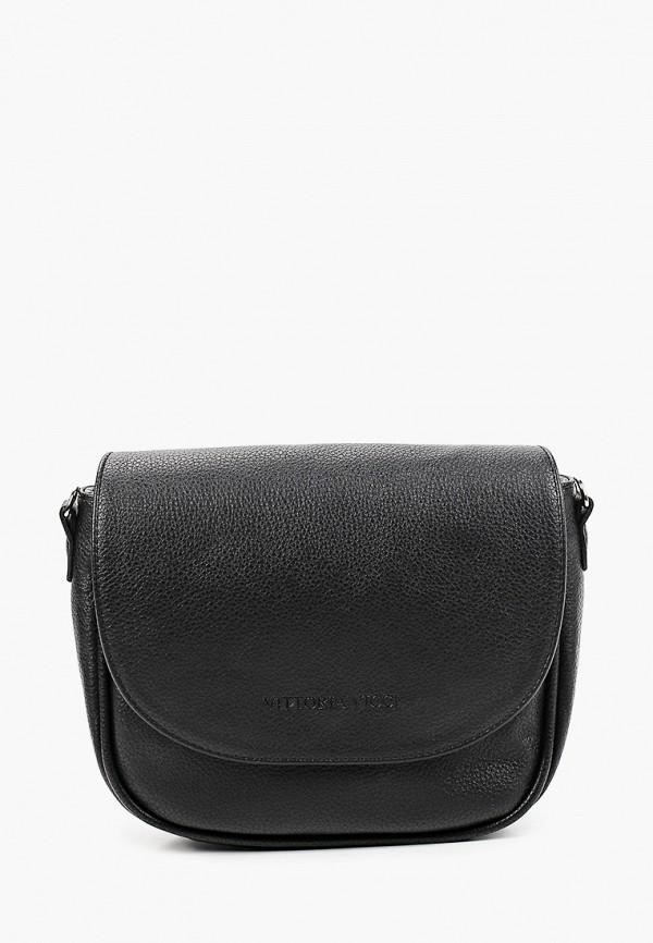 женская сумка через плечо vittoria vicci, черная