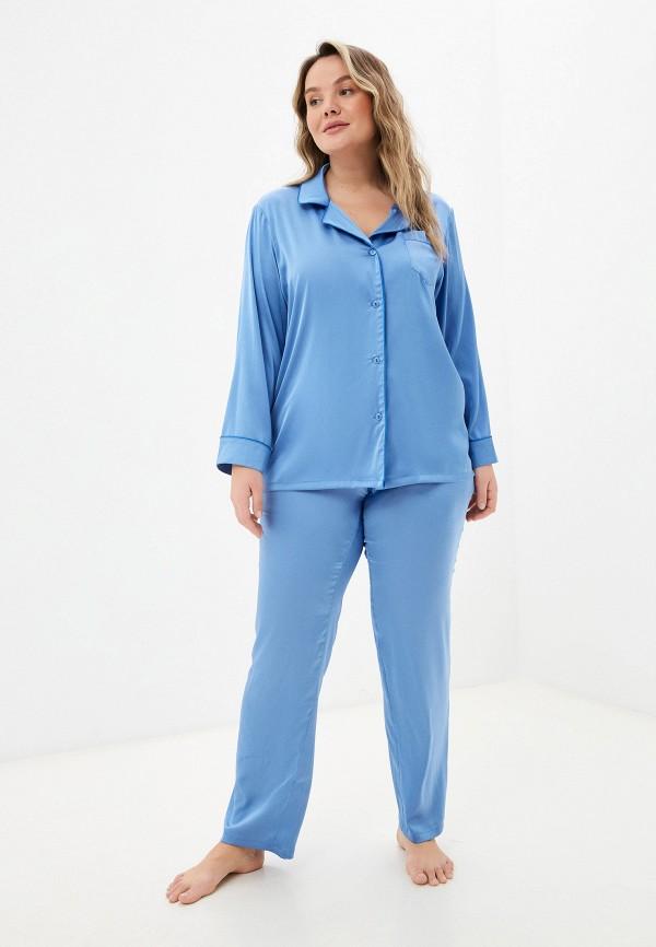 женская пижама новое время, голубая