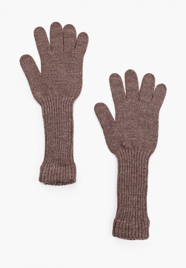 женские текстильные перчатки delia, коричневые