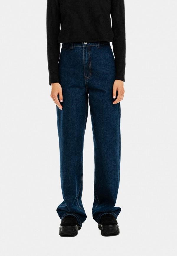 женские джинсы-мом befree, синие
