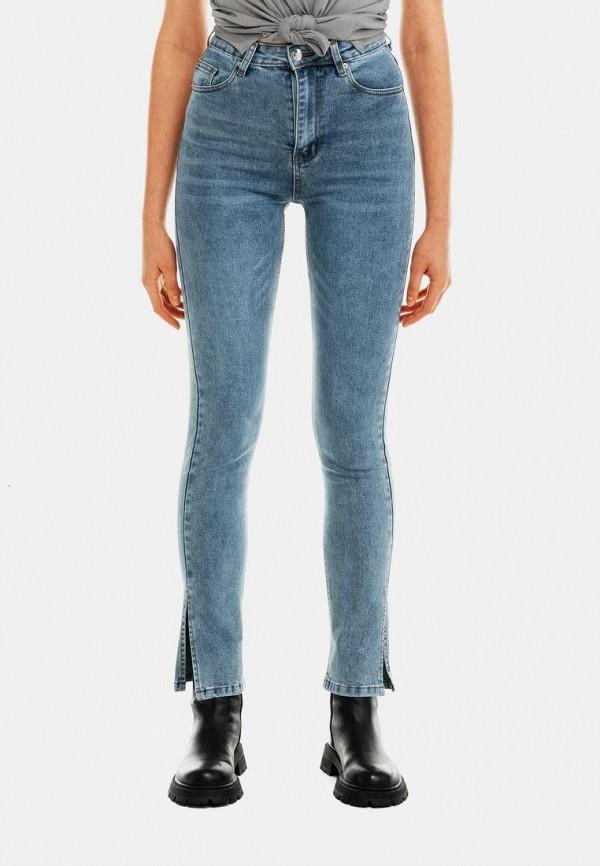 женские джинсы скинни befree, голубые