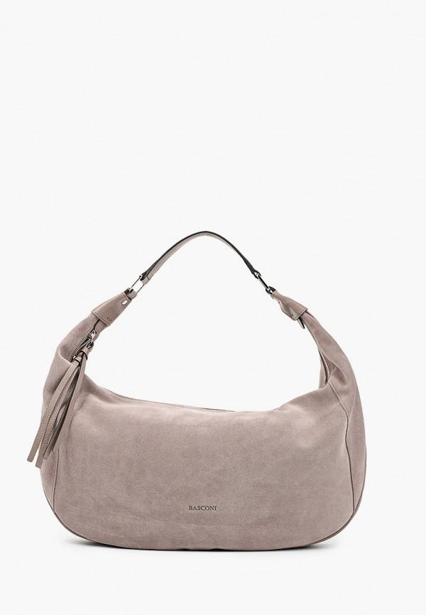 женская сумка с ручками basconi, розовая