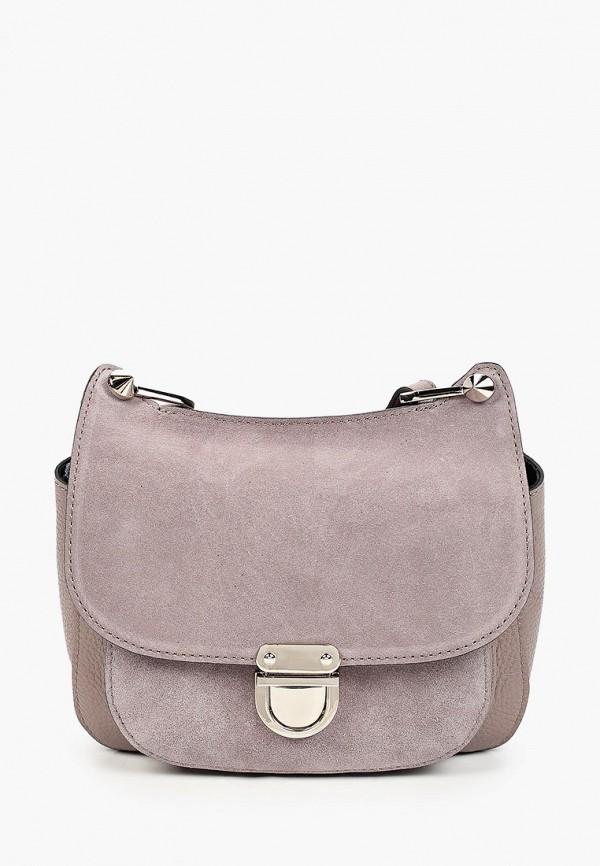 женская сумка через плечо basconi, розовая