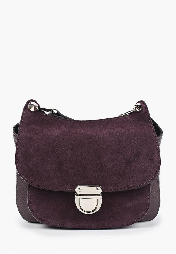 женская сумка через плечо basconi, фиолетовая